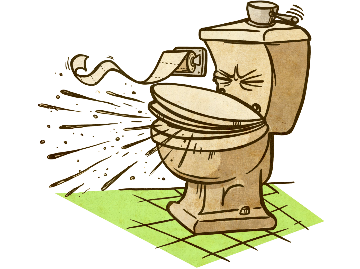 Dirty toilet png. Kaivac stop the mop