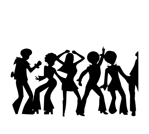 Disco clipart family dance. Bw clip art at