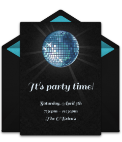Free bachelorette online invitations. Disco vector farewell party vector transparent download