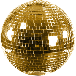 Vector gold disco ball. Download free png shiny