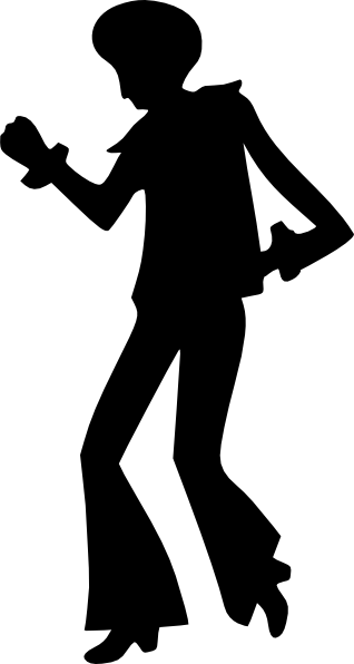 Disco vector people. Dancing man clip art
