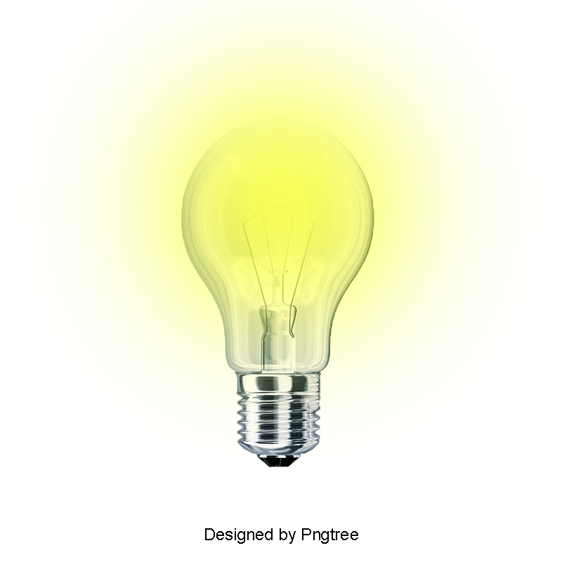 Glow vector realistic. Glowing light bulb lamps