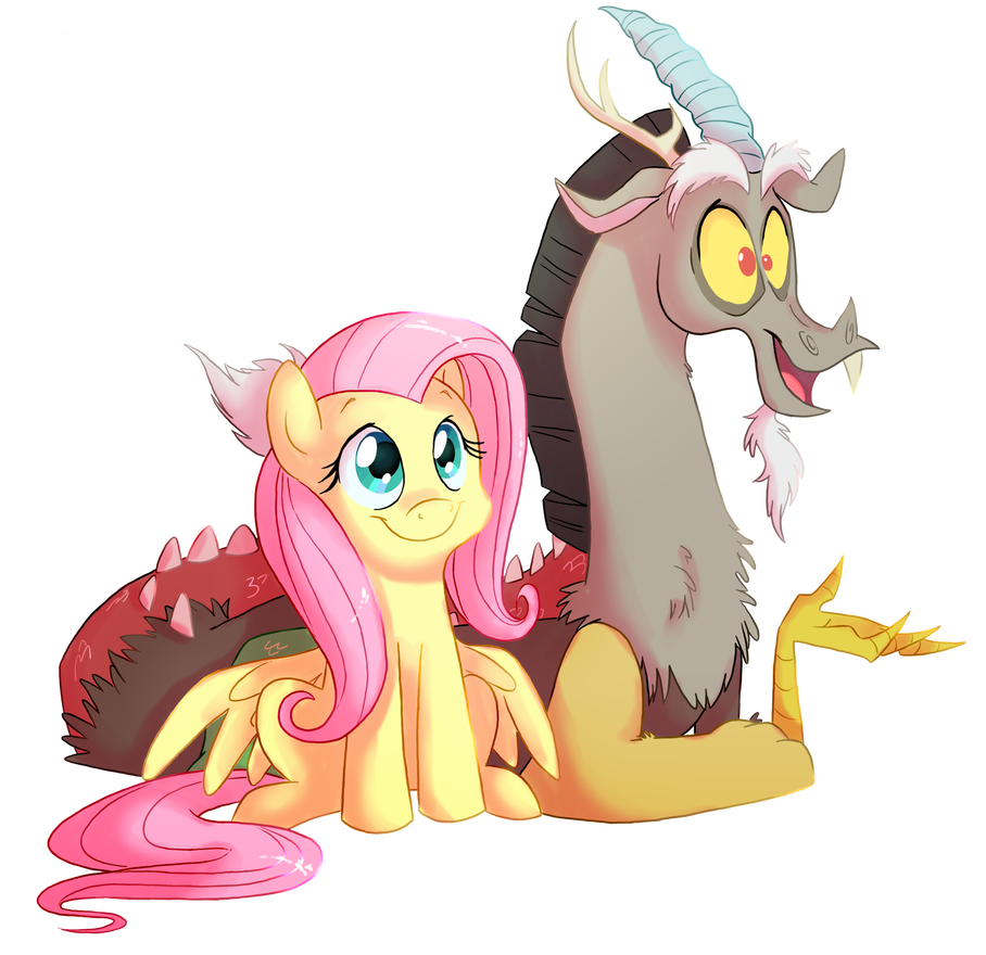 Discord drawing fluttershy. And by fillyblue c