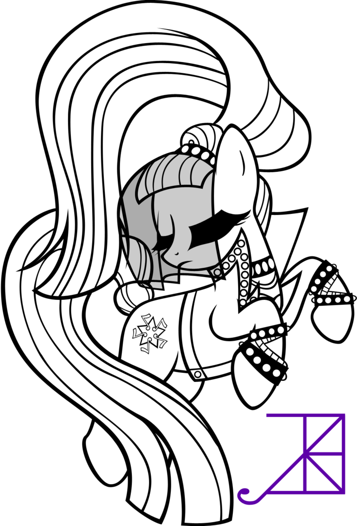 Discord drawing my little pony coloring page. Countess coloratura line art