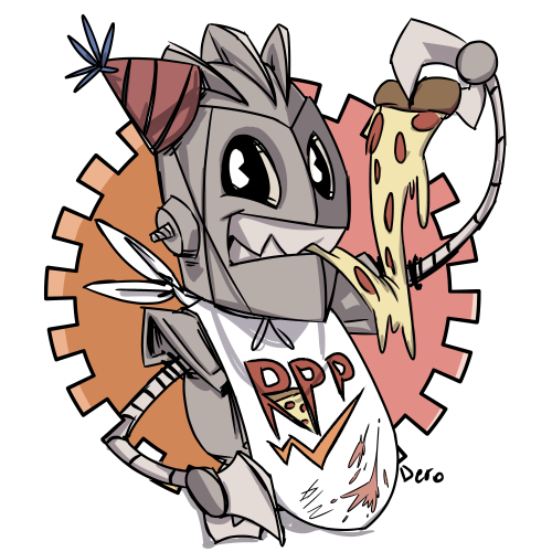 Discord drawing robot. Pizza party tumblr hey