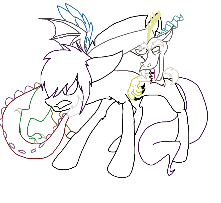 Discord drawing. Lines by minefreakxx on