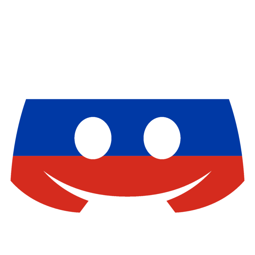 Discord red png. Russian flag by japa