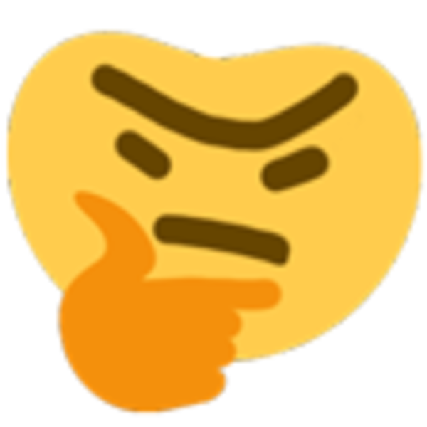 Discord thinking emoji png. Thronking face
