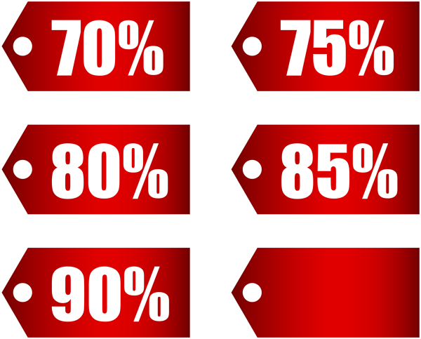 Discount tag png. Red tags set part