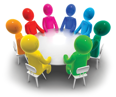 Discussion clipart. Small group