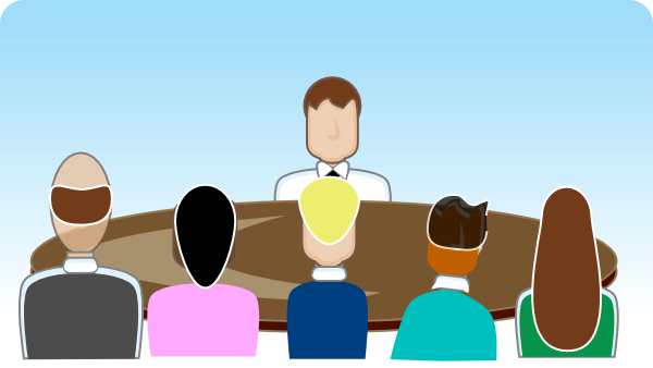 Discussion clipart small group. Face off seating arrangement