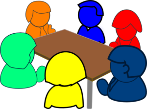 Discussion clipart small group. Pbes pta standing committees