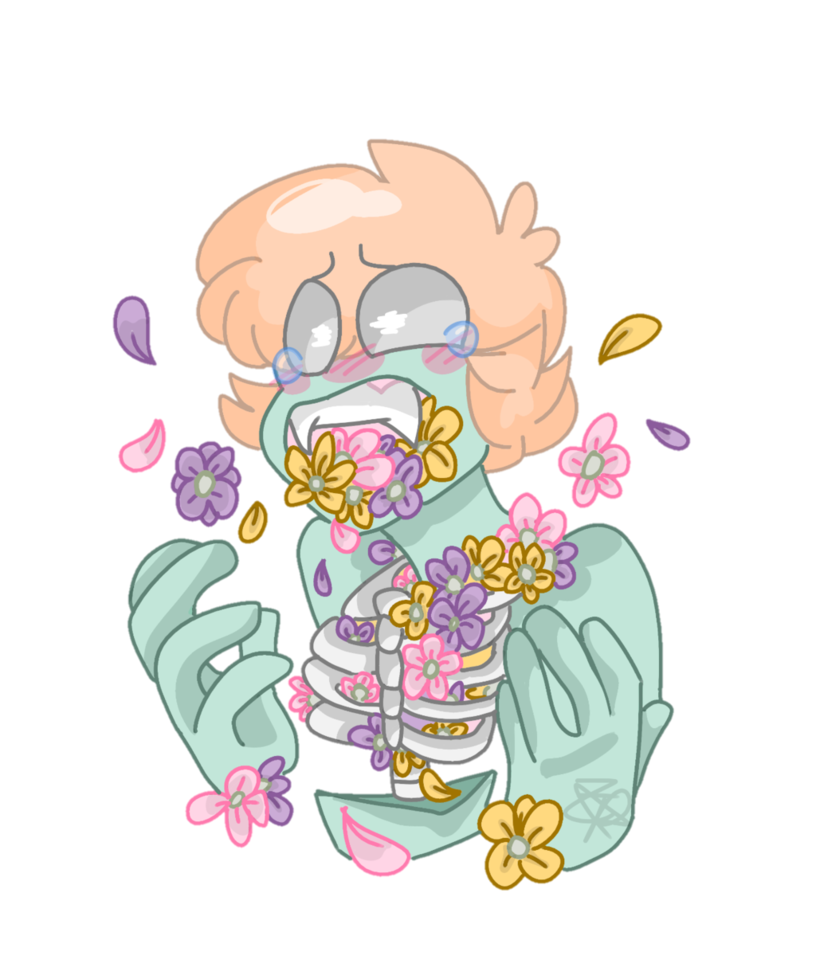Drawing candy goretober. Day hanahaki disease by