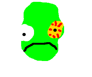 Admiral ackbar suffers from. Disease drawing eye png