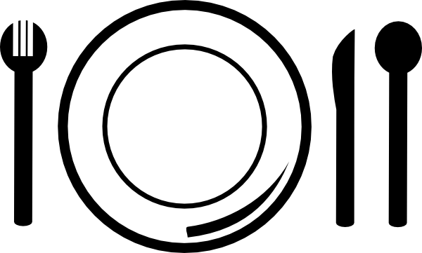More clipart plate. Dish and cutlery