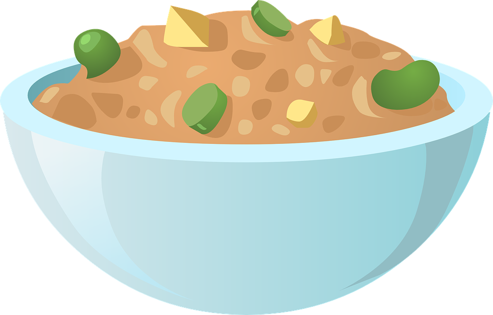 Dish clipart baking dish. Full of food clip