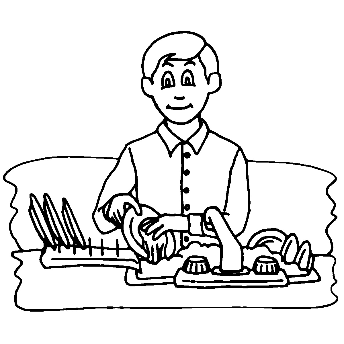Dish clipart hand clipart. Doing dishes chores
