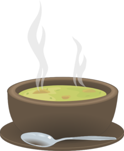 Dish clipart soup bowl. Hot steaming of clip