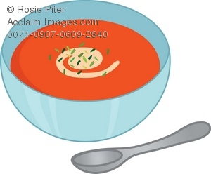Dish clipart soup bowl. Clip art illustration of