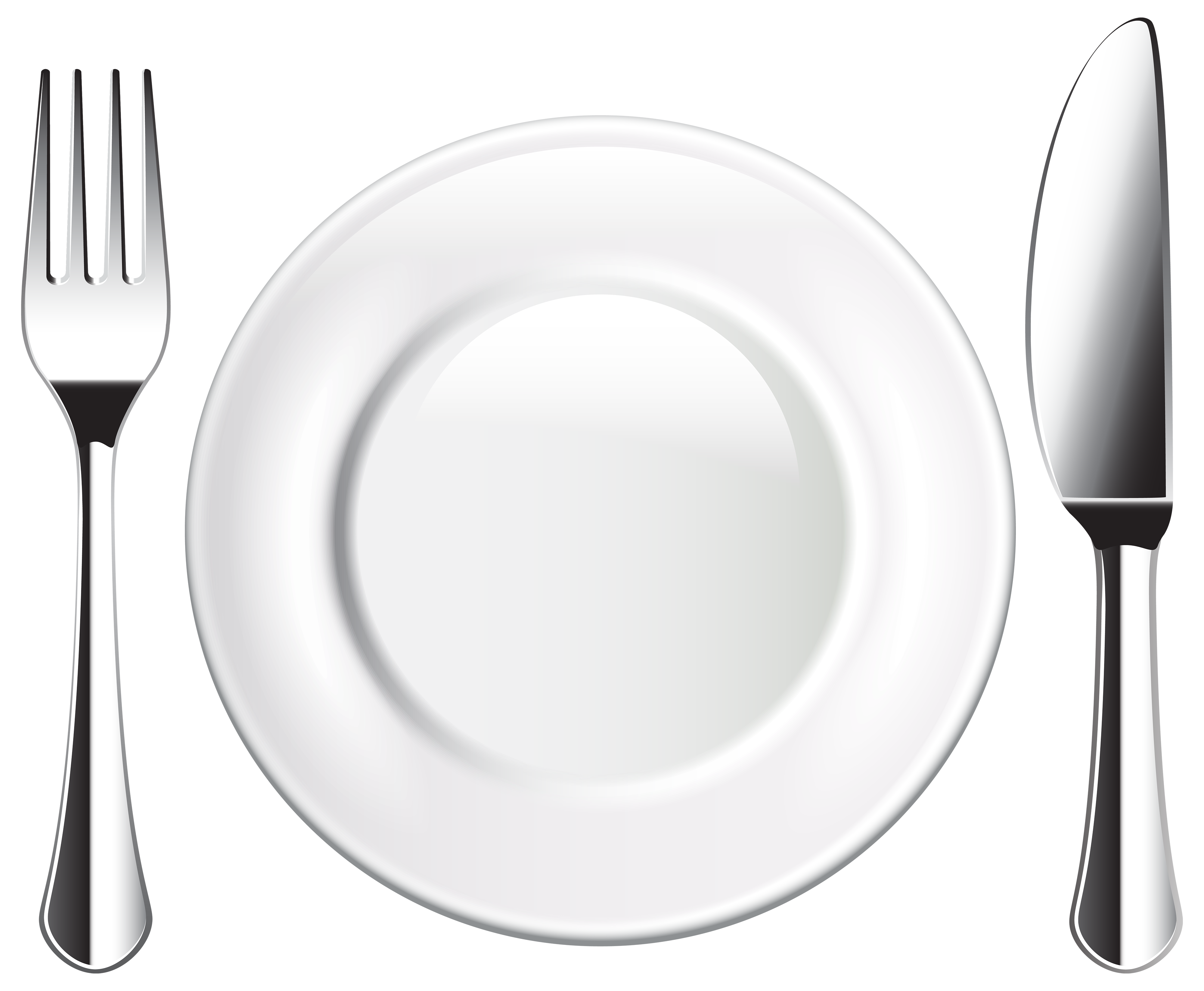 Plate clipart png. Knife and fork best