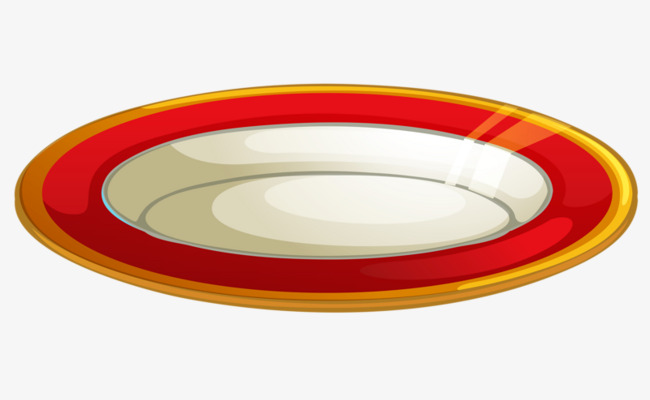 Dishes clipart red plate. Hand painted plates cute