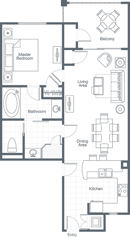 Dishes drawing bedroom. Sheraton vistana villages one
