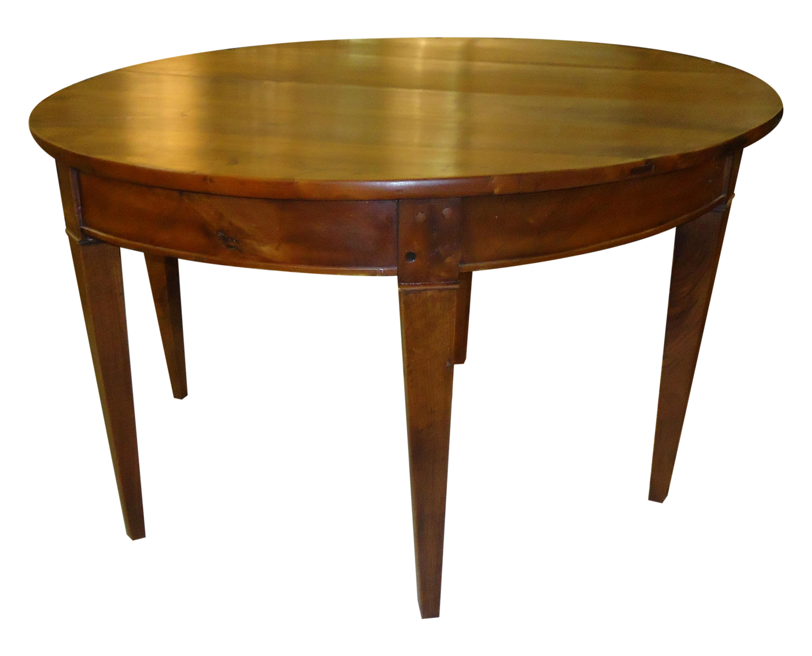 Dishes drawing dining table. Antique walnut demilune chairish
