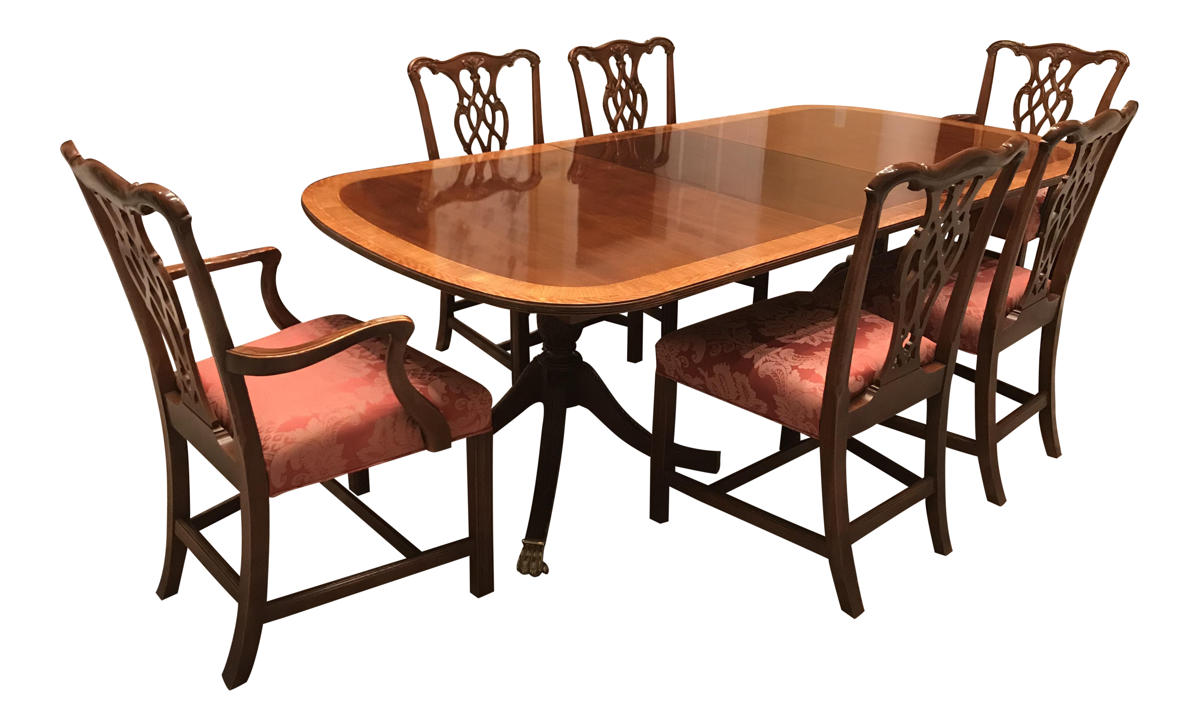 Dishes drawing dinning room. Councill craftsman dining table
