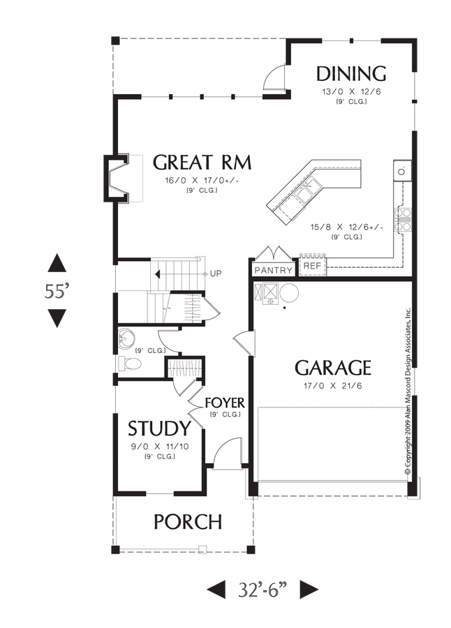 Dishes drawing standard size. Cottage house plan the