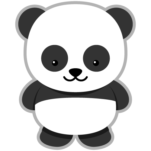 Panda clipart small. Is the labor to