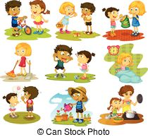 Chores and stock illustrations. Sharing clipart image black and white library
