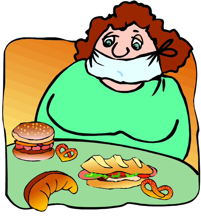 Fat clipart fat female. Free dirty dishes pictures