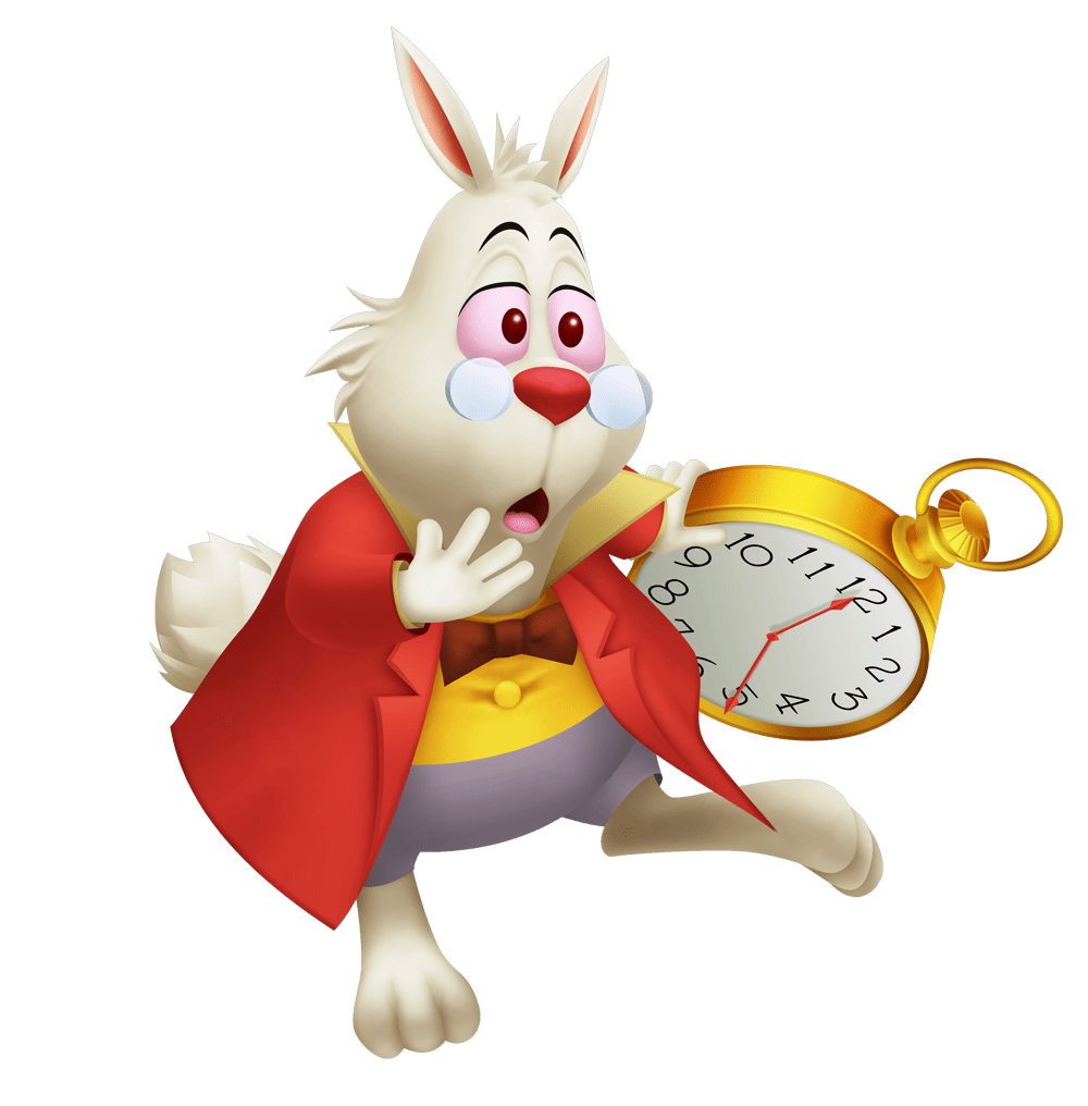 alice in wonderland white rabbit png