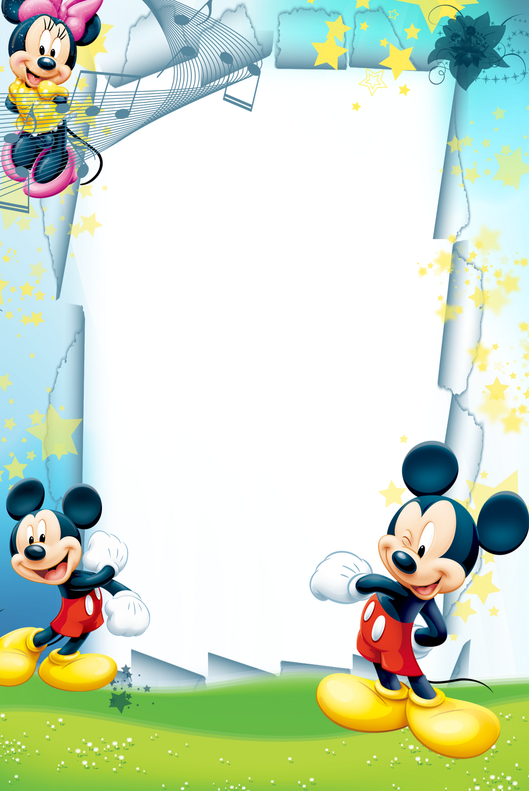 Disney border png. Photoshop frame frames infantil