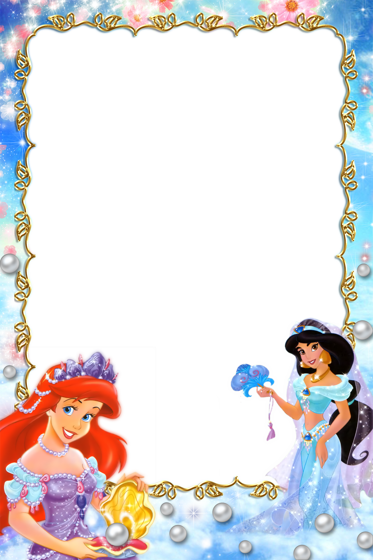 Disney border png. Fav princesses borders and