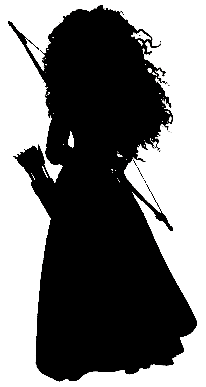 Disney character silhouette png. Merida the is there