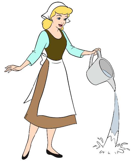 cleaning drawing cinderella