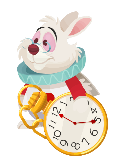 Disney clipart white rabbit. Latest pinterest alice and
