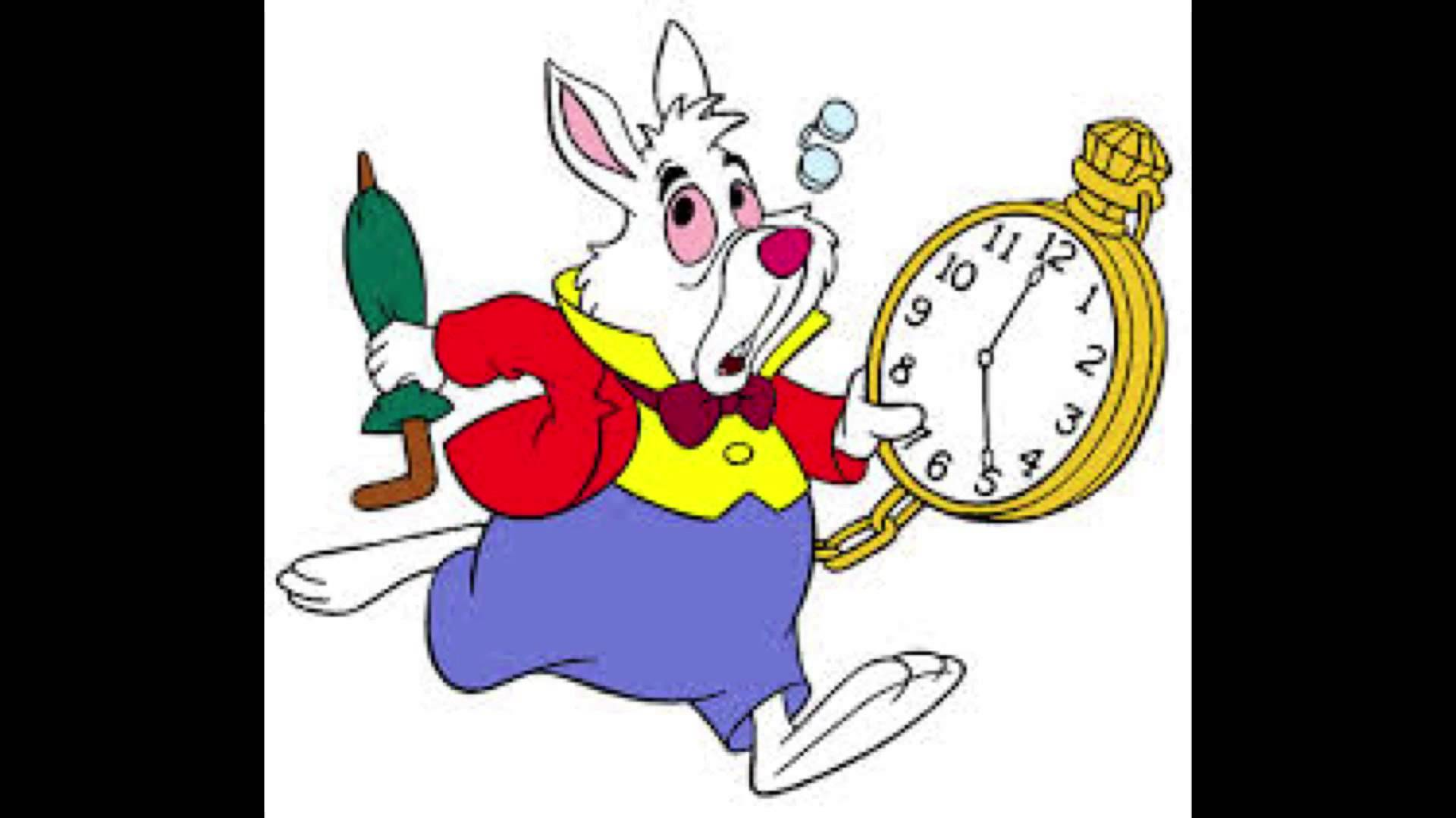 Disney clipart white rabbit. In wonderland youtube
