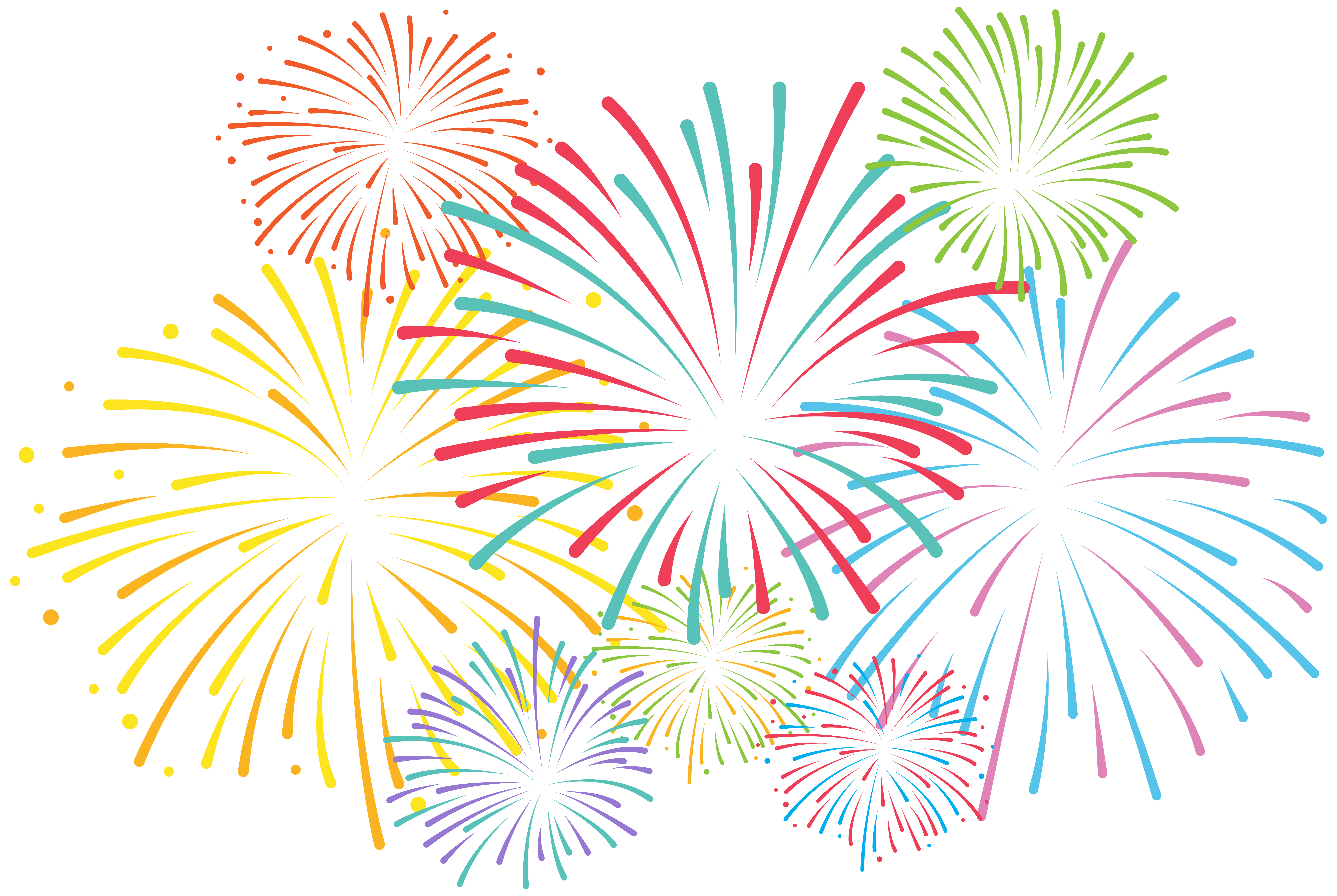 Png clip art gallery. Fireworks clipart svg stock
