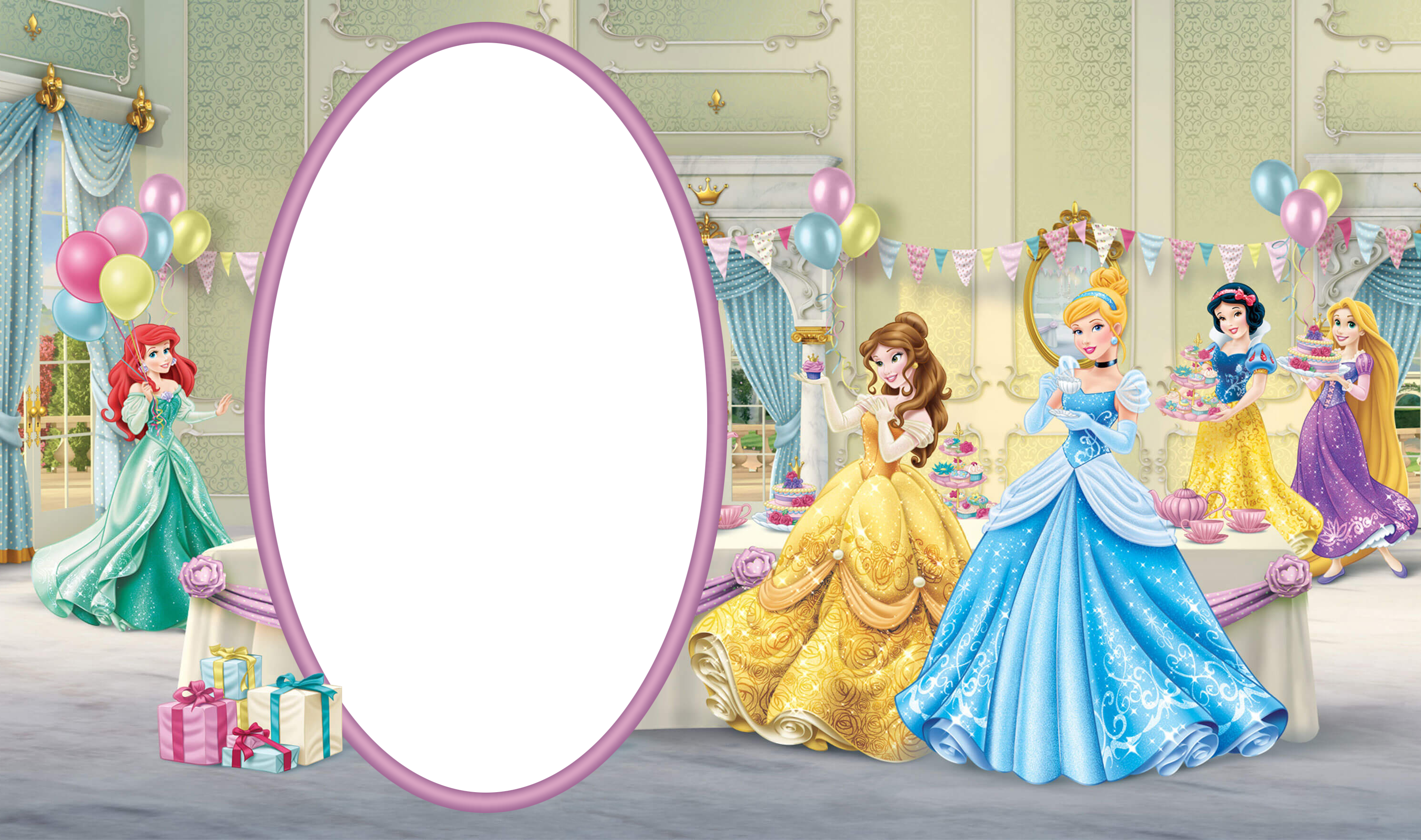 Princess frame png. Birthday transparent kids with