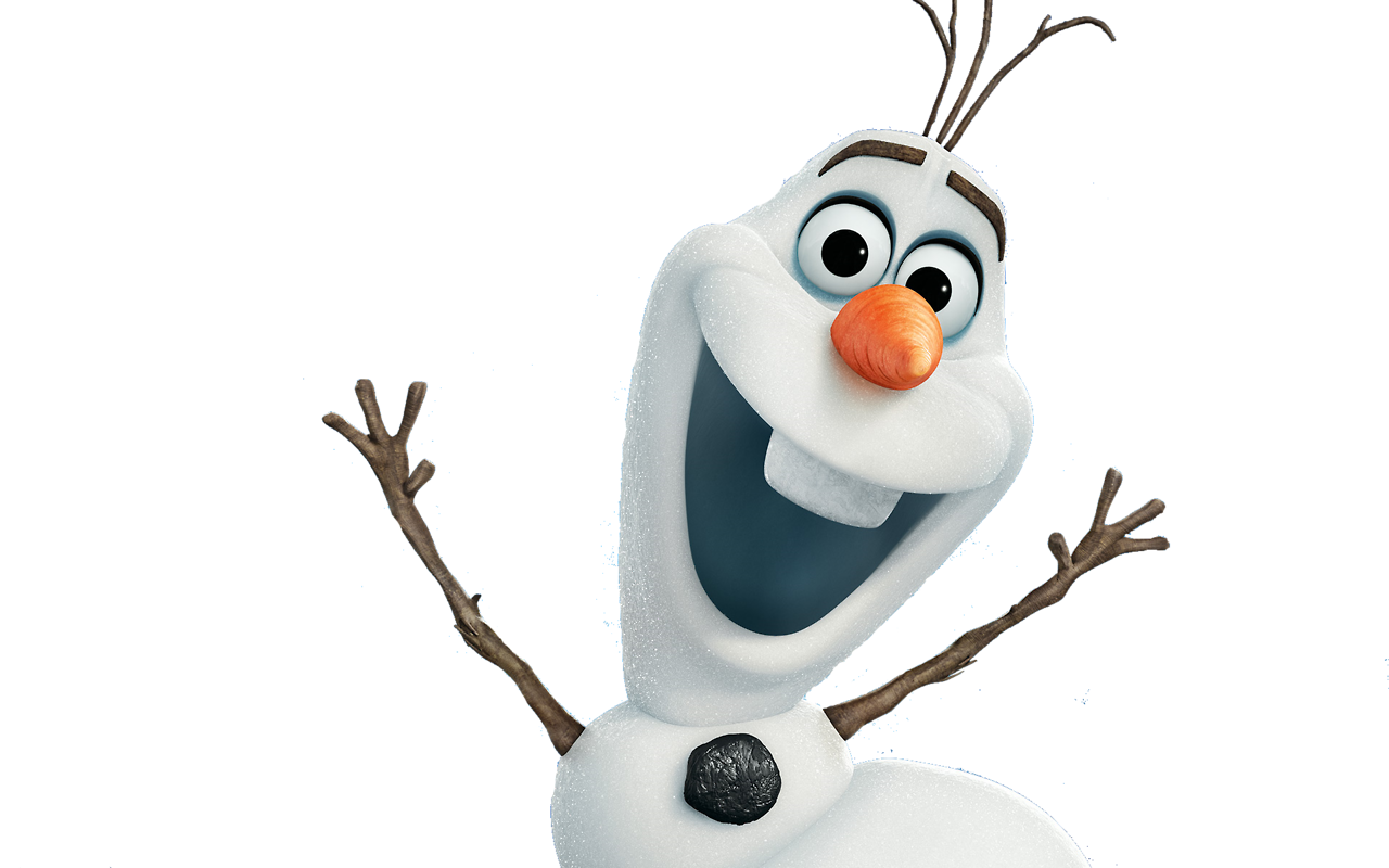 Olaf frozen png. Disney character white blanco