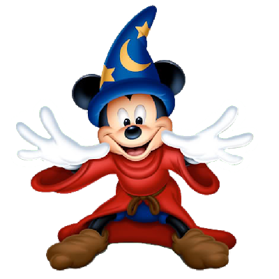 Mickey halloween png. The sorcerer disney characters
