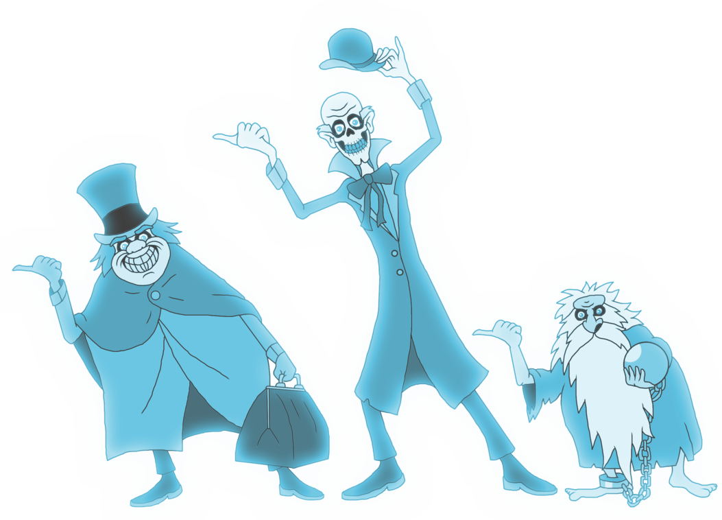 Disney haunted mansion png. The hitchhiking ghosts by