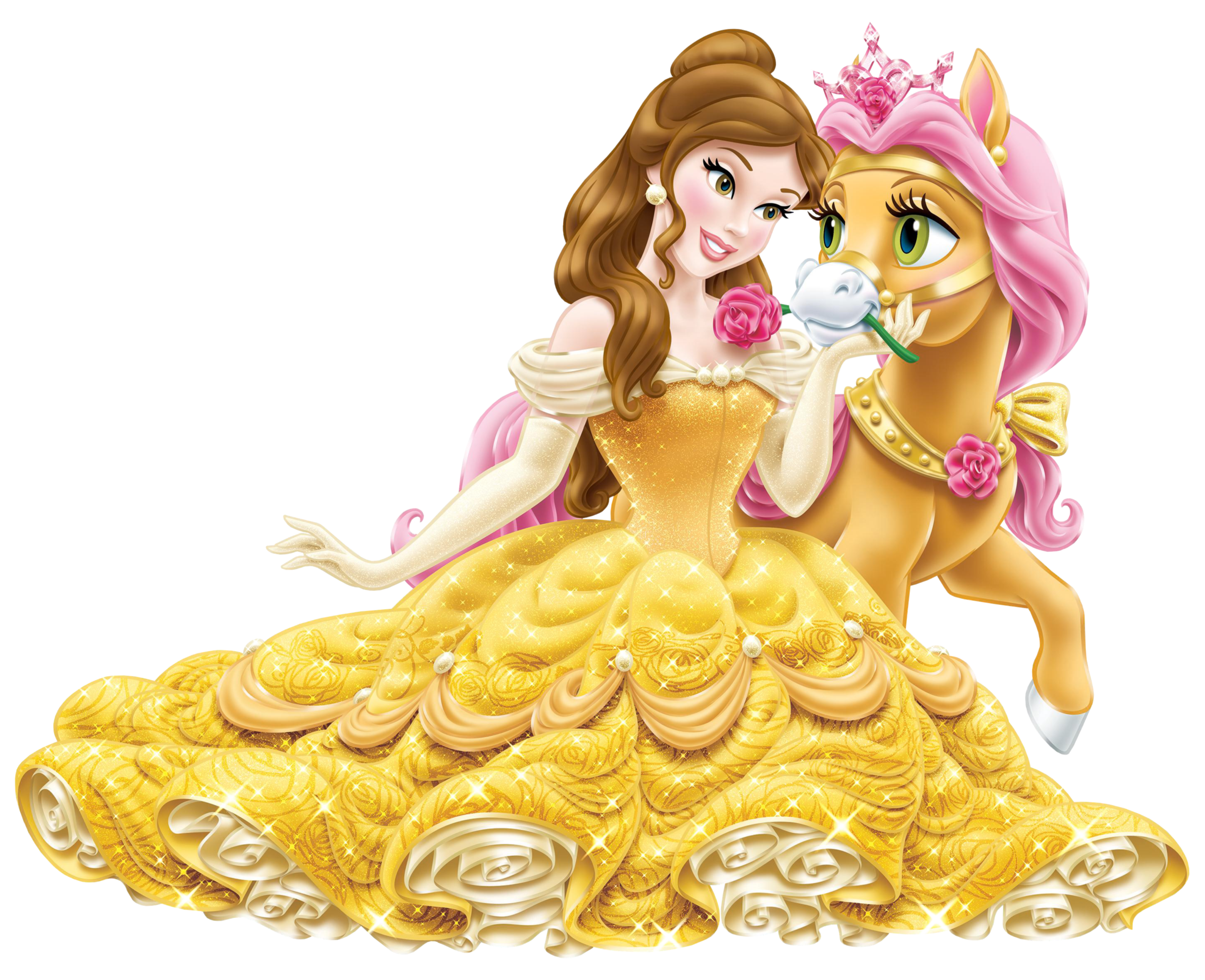 Disney princess belle png. With cute pony transparent