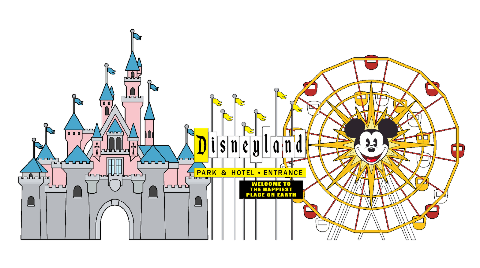 Logo google search disney. Disneyland clipart picture royalty free