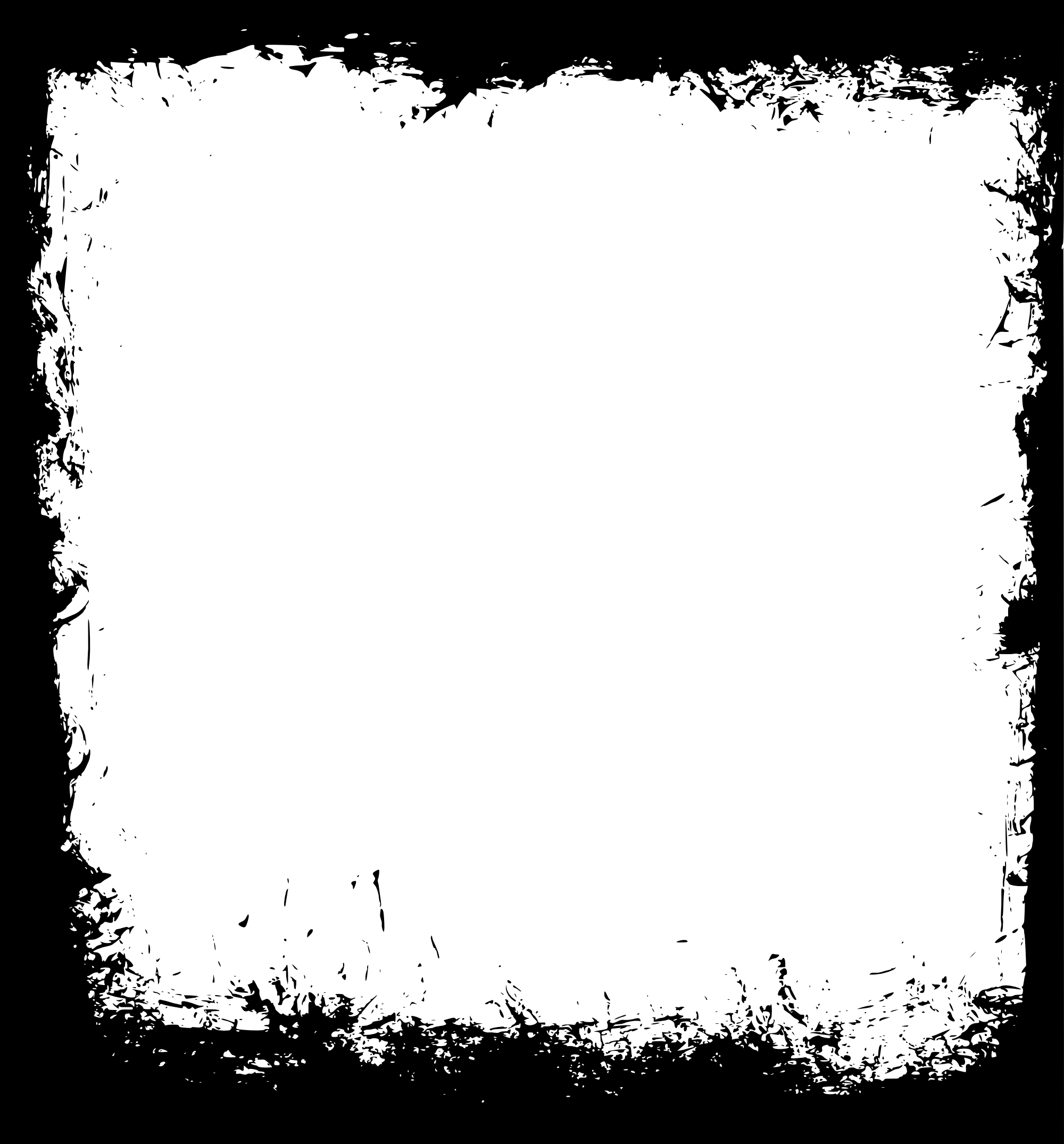 Brush frame png. Square grunge transparent
