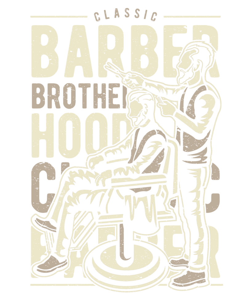 Distressed svg faded. Barber brotherhood retro vintage