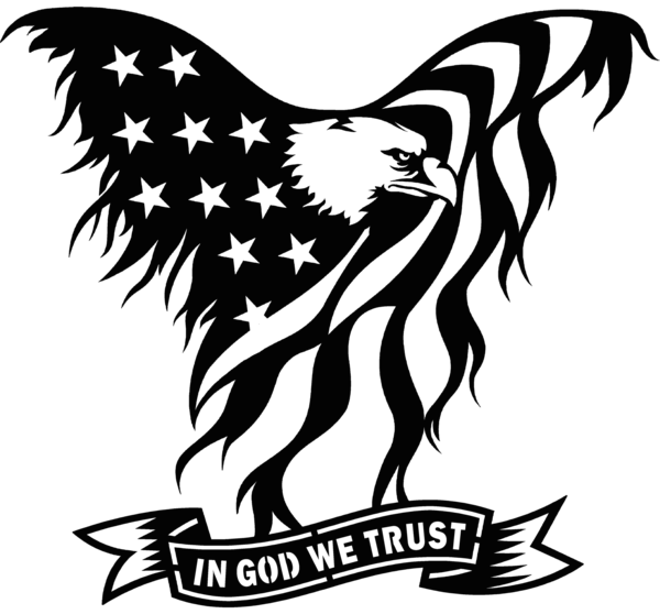 Distressed svg metal. Usa flag eagle in