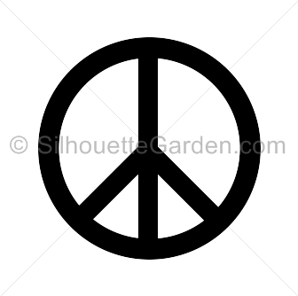 Distressed svg rugged. Peace sign silhouette clip